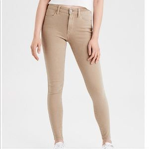 American Eagle khaki skinny pants